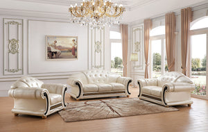 Polo Leather Living Room Collection in 4 Color Options