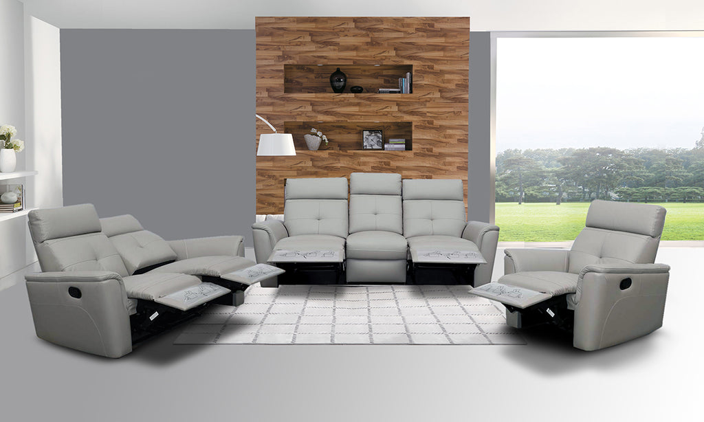 Ace Reclining Leather Living Room Collection