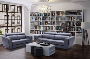 Lorene Leather Reclining Living Room Collection in 3 Color Options