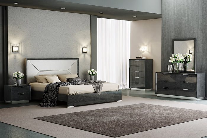 Monti Modern Grey Lacquered Bedroom Collection