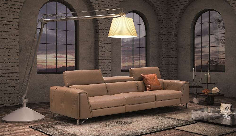 Macie Oversized Leather Reclining Sofa