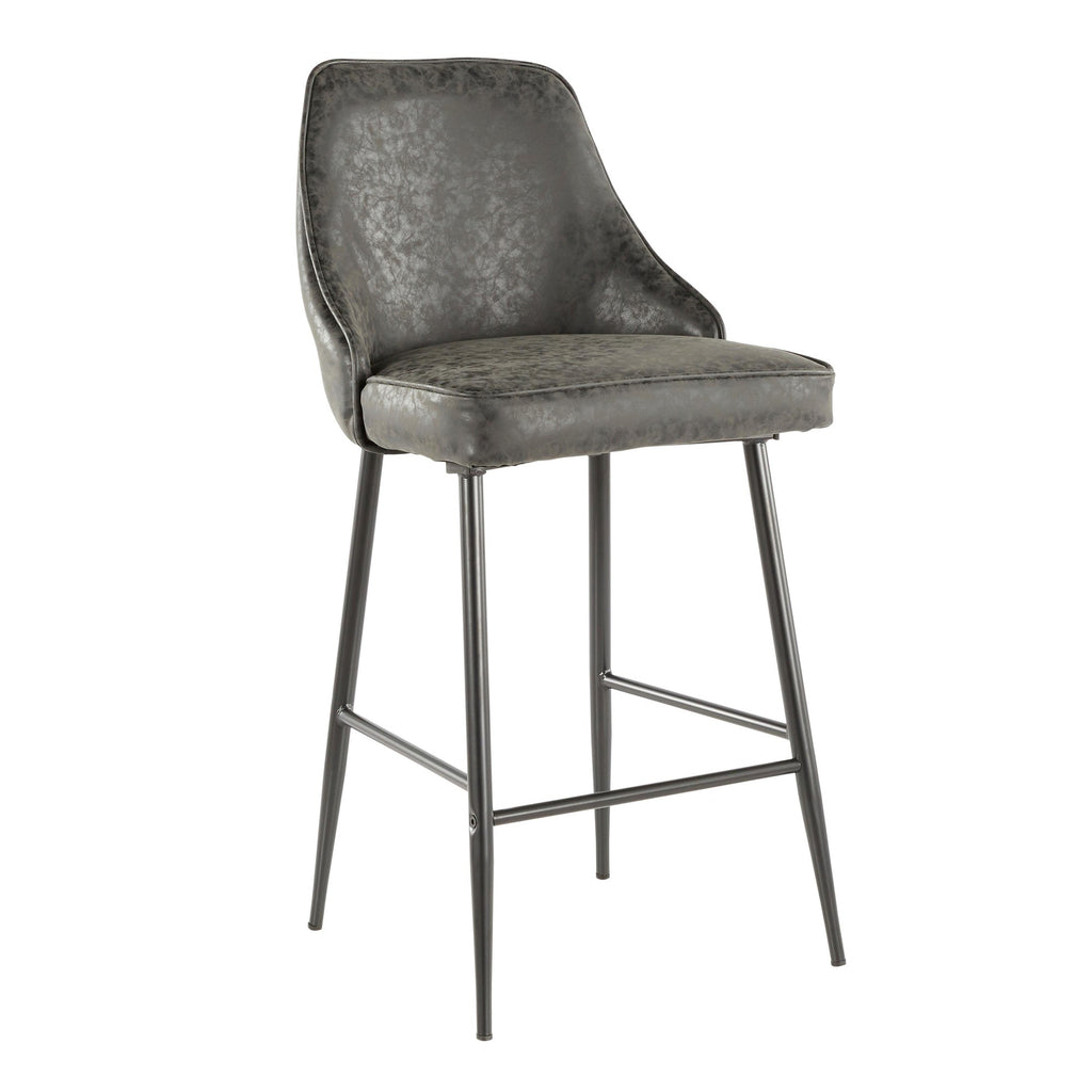 Marcellus Counter Stool with Black Legs in 6 Color Options