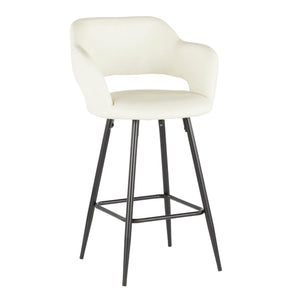Margo Upholstered Stool in Counter or Bar Height