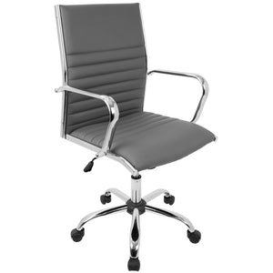 Marshall Arm Office Chair with Chrome Frame in 3 Color Options