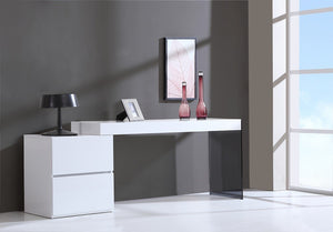 Molly Modern Office Desk in Grey or White