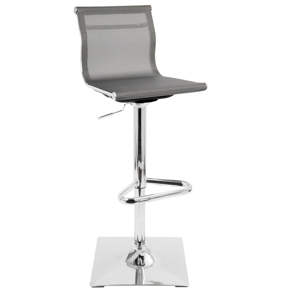 Mira Adjustable Barstool in Grey, Black or White
