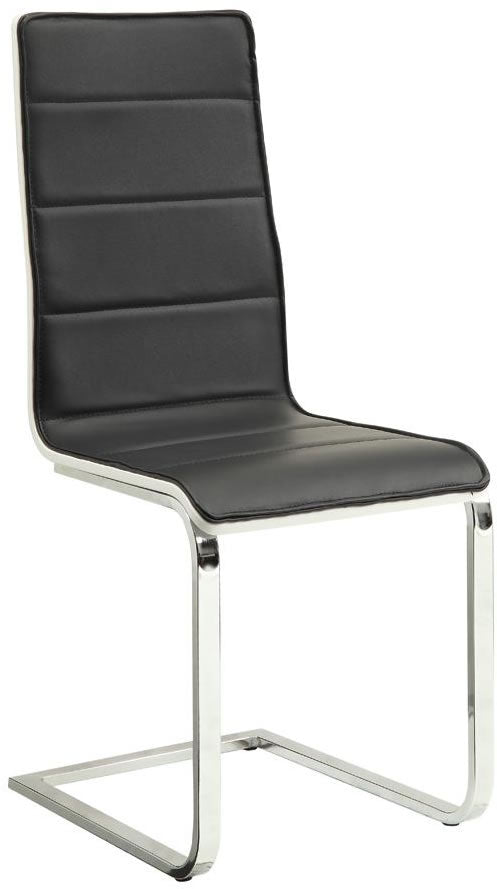 Broderick Modern Black & White Dining Chair
