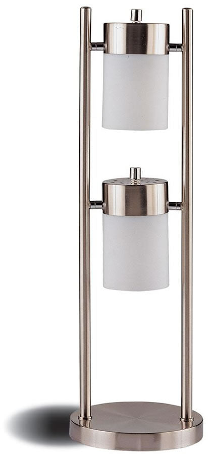Modern Metal Table Lamp with Frosted Shades
