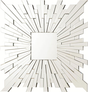 Modern Square Burst Mirror