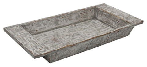 Distressed Antique White Accent Tray