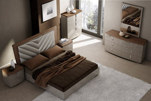 Nate Grey and Walnut Bedroom Collection