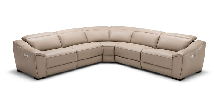 Nola Leather Reclining Sectional in 3 Color Options