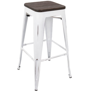 Ore Industrial Backless Stool in Counter or Bar Height
