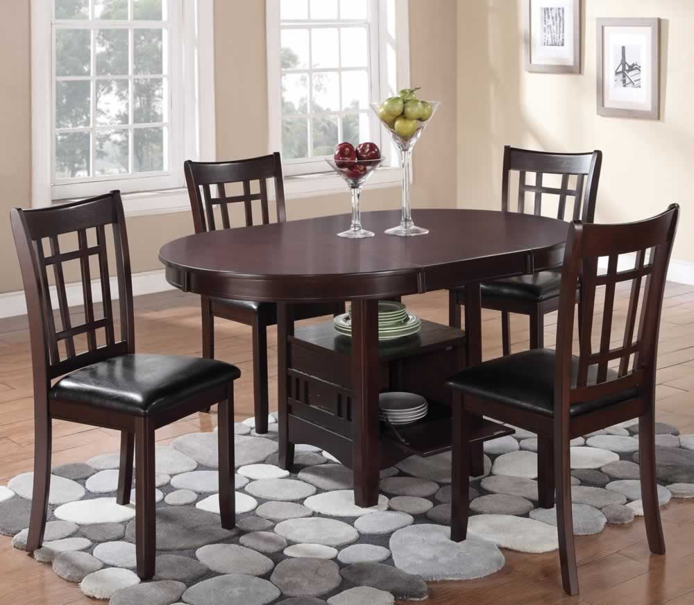 Linwood Oval Dining Set with Storage Extension Table