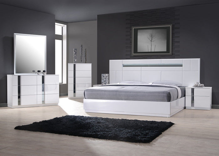 Lima Modern White Bedroom Collection