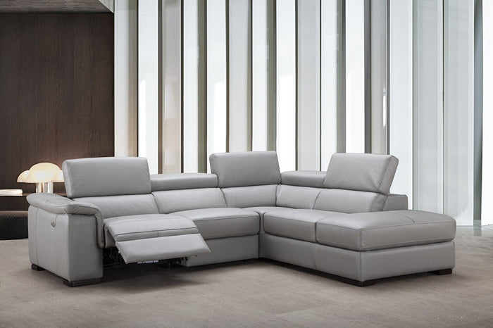 Percy Leather Reclining Sectional in 2 Color Options