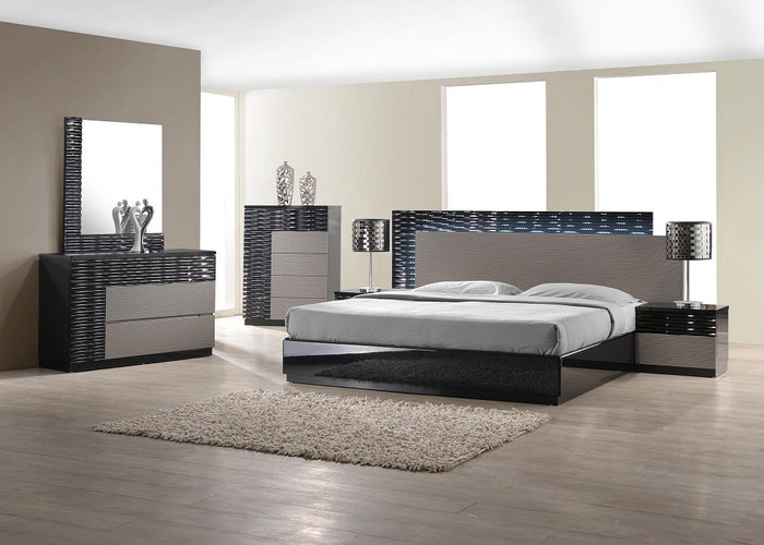 Romeo Platform Bedroom Collection with LED Lights