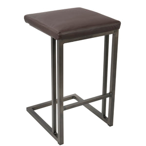 Fine Roma Backless Counter Height Stool In Camel Or Espresso Beatyapartments Chair Design Images Beatyapartmentscom