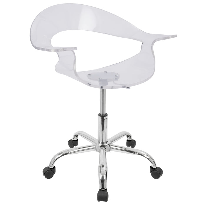 Contemporary Acrylic Office Chair