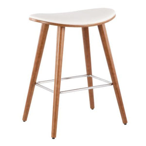Sage Backless Counter Height Stool in Black or White