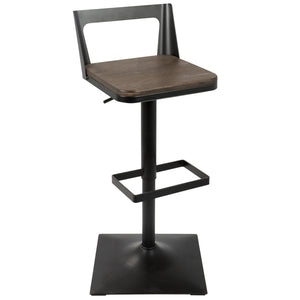 Sammy Industrial Adjustable Barstool in 2 Color Options