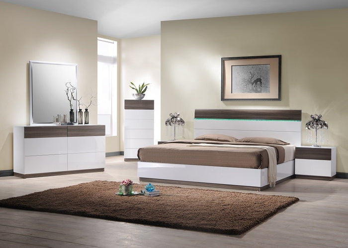 Reno Modern Bedroom Collection with LED Lights