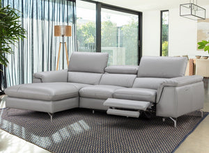 Serene Apartment Size Leather Sectional