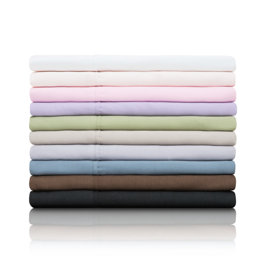 Brushed Microfiber Sheets Set in 4 Color Options