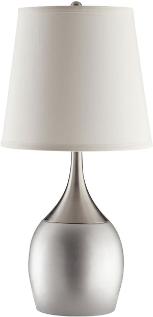 Silver & Chrome Base Contemporary Table Lamp