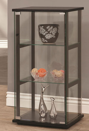 Contemporary 3 Shelf Glass Curio Cabinet