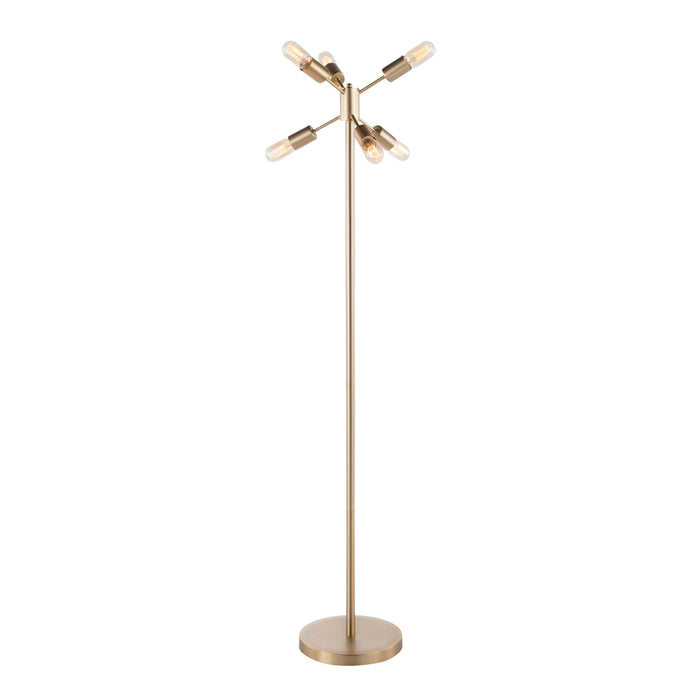 Sara Floor Lamp in Antique Brass or Stainless Steel