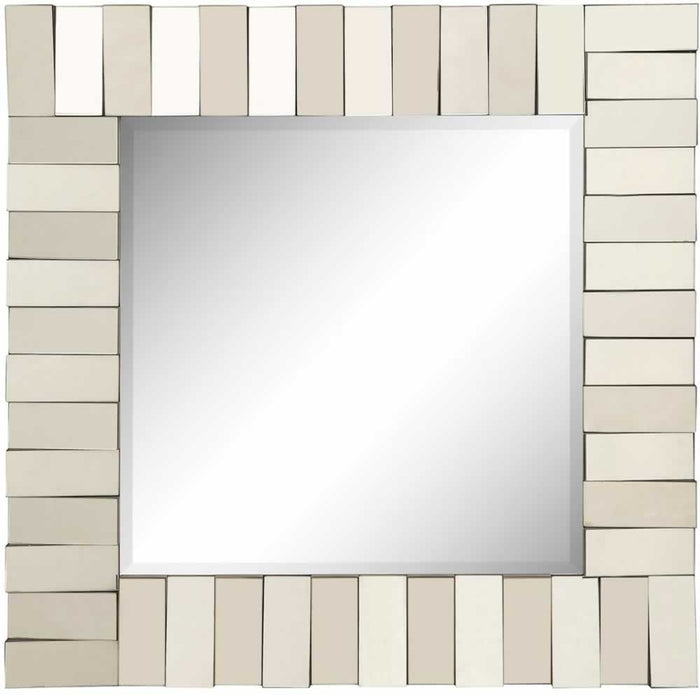 Square Modern Wall Mirror with Unique Stacking Frame