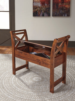 Abbott Rustic Storage Accent Bench