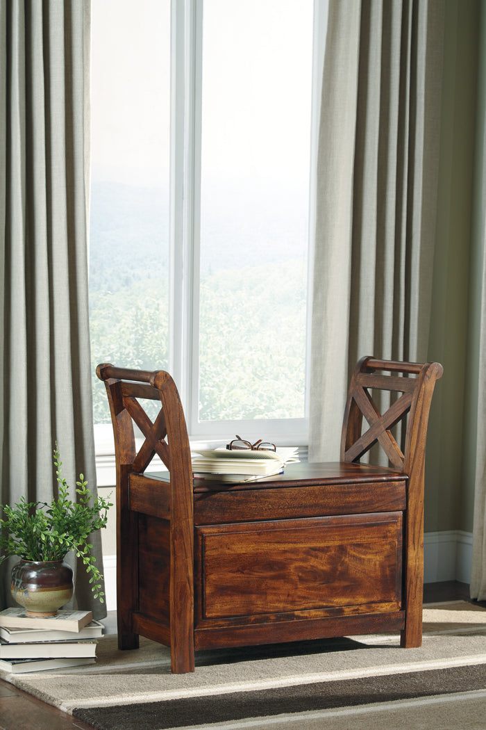 Abbott Rustic Warm Brown Accent Bench