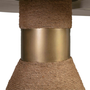 Textured Rope Pedestals Dining Table in 2 Sizes and 2 Color Options