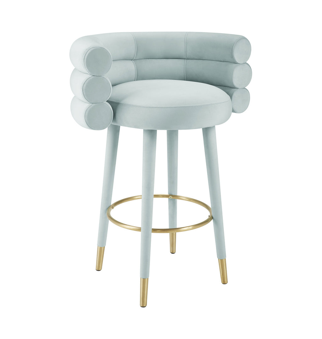 Betsy Velvet Stool in Counter or Bar Height