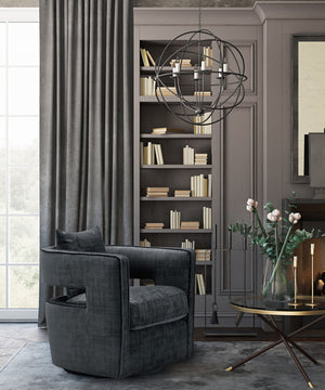Kenneth Swivel Accent Chair in 4 Color Options
