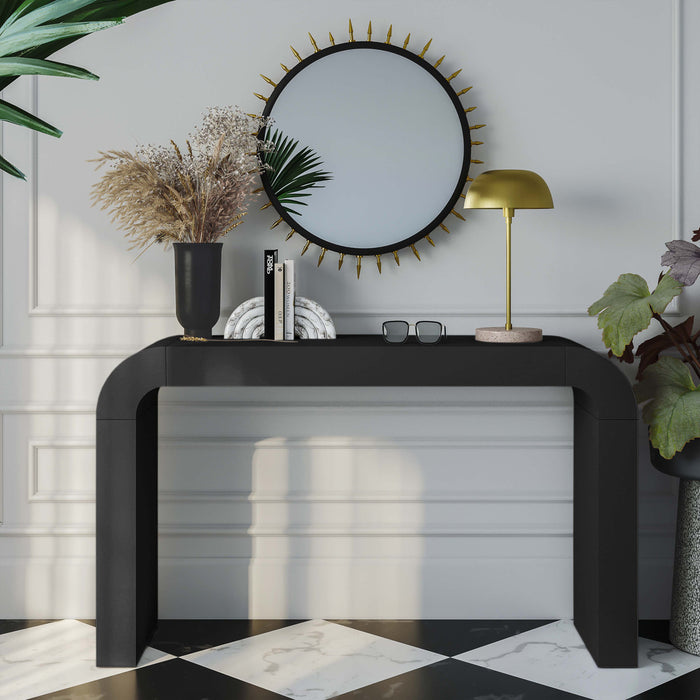 Sleek Modern Console Table in Black or White Finish