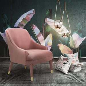 Rose Velvet Accent Chair