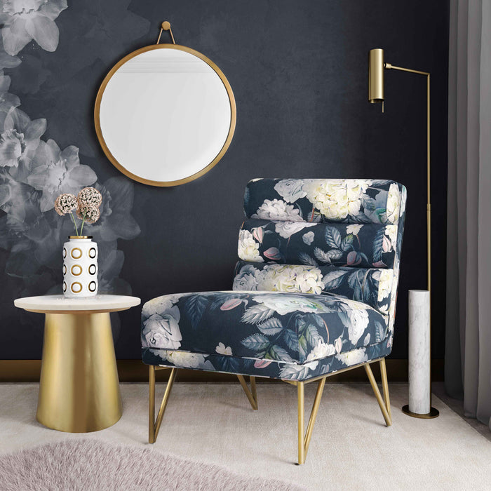 Kelis Channel Tufted Velvet Accent Chair in 5 Color Options