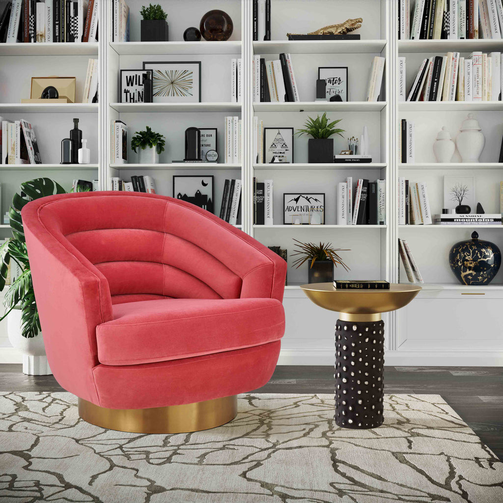 Channel Tufted Swivel Accent Chair in 3 Color Options
