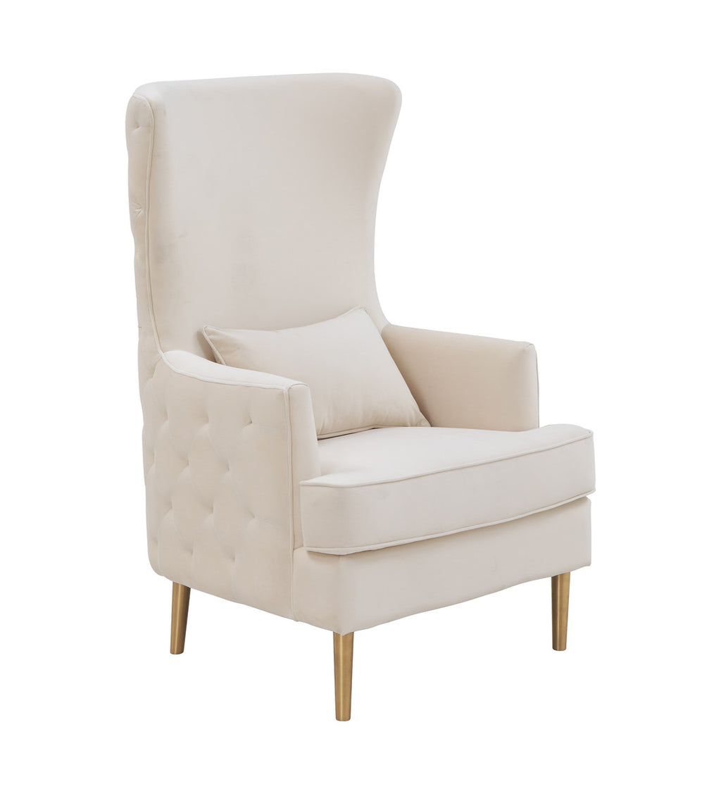 Lydia Tall Tufted Back Accent Chair in 3 Color Options
