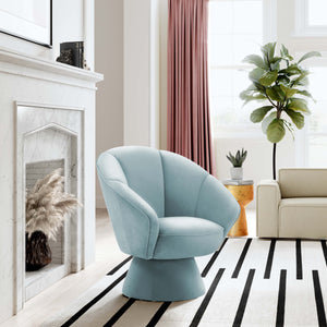 Lorie Swivel Accent Chair in Blue or Grey