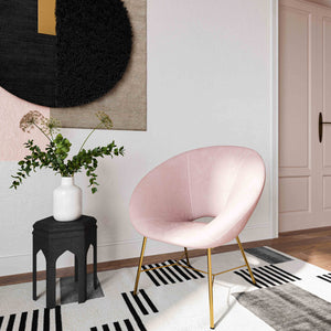 Nadia Velvet Accent Chair in 3 Color Options