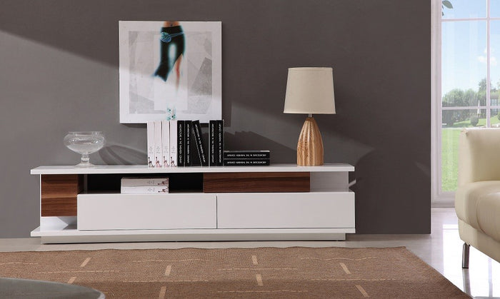 Andrew White Glossy TV Stand