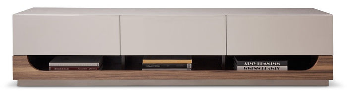 George Taupe Lacquered TV Stand