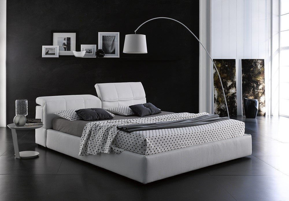Townsend Italian Storage Bed in Grey or White Leatherette