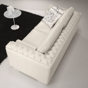 Vanny White Leather Living Room Collection