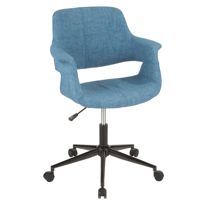 Flora Office Chair in Blue or Grey Fabric