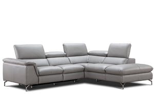 Ana Power Reclining Sectional in Auburn Leather